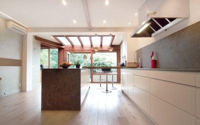 Ingrid, una cocina privilegiada con mucha luz natural